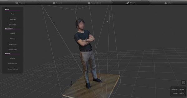 3Dスキャンされたデータ