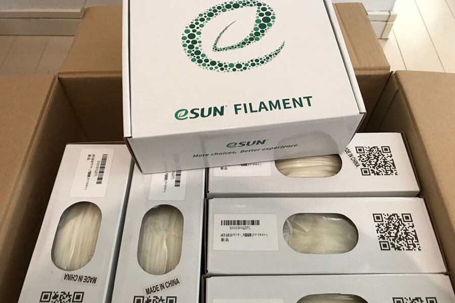 3Dプリンター材料の輸入継続中
