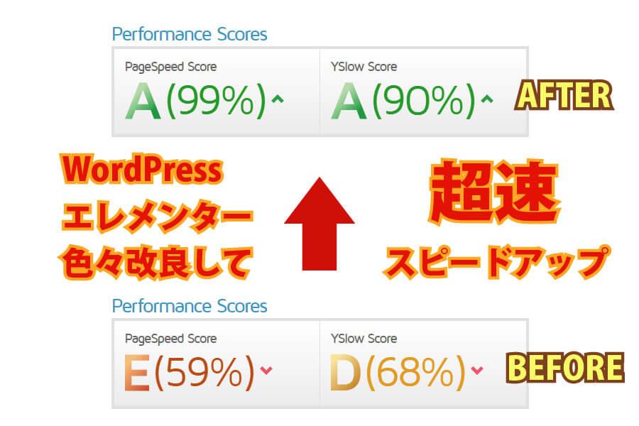 WordPressエレメンターの高速化を色々とやってみました